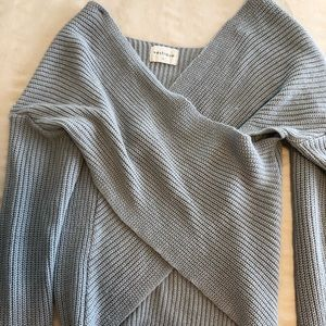 Slouchy Spliced Sweater